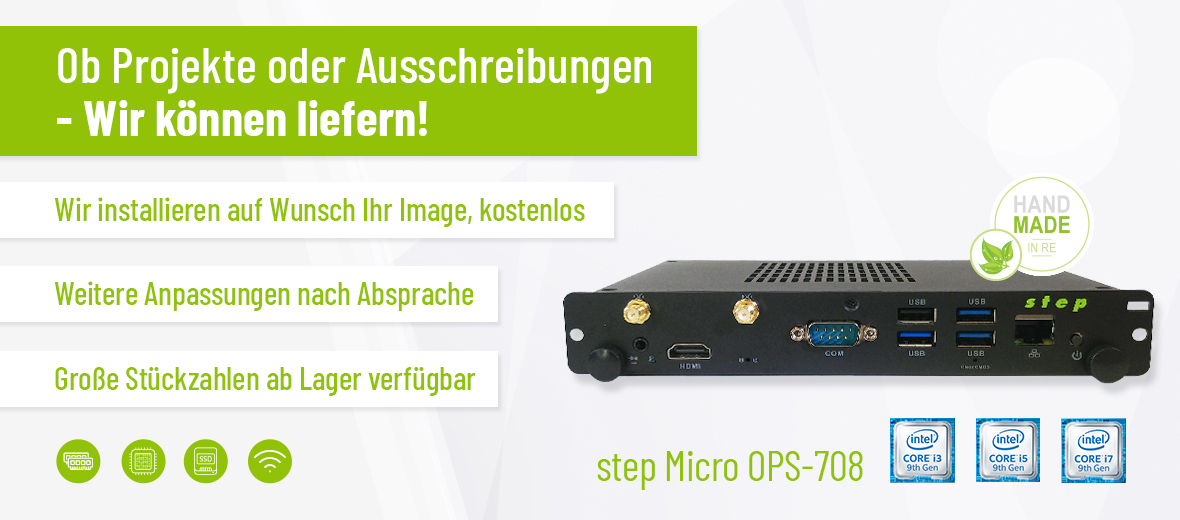 step Micro OPS-708 - OPS PC mit Desktop Performance